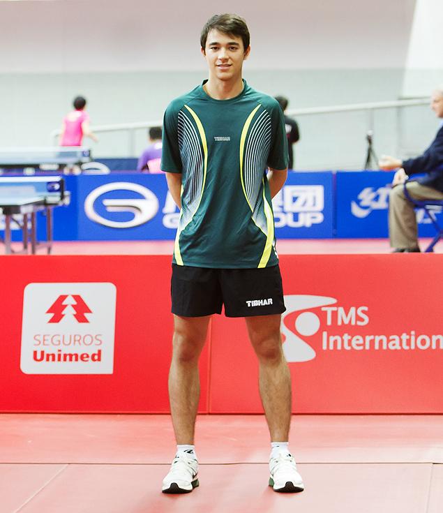 O mesa-tenista Hugo Calderano (Crédito: Christian Martinez/CBTM)