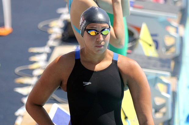 A nadadora Jessica Bruin Cavalheiro durante competição (Crédito: Onboard Sports/Divulgação)