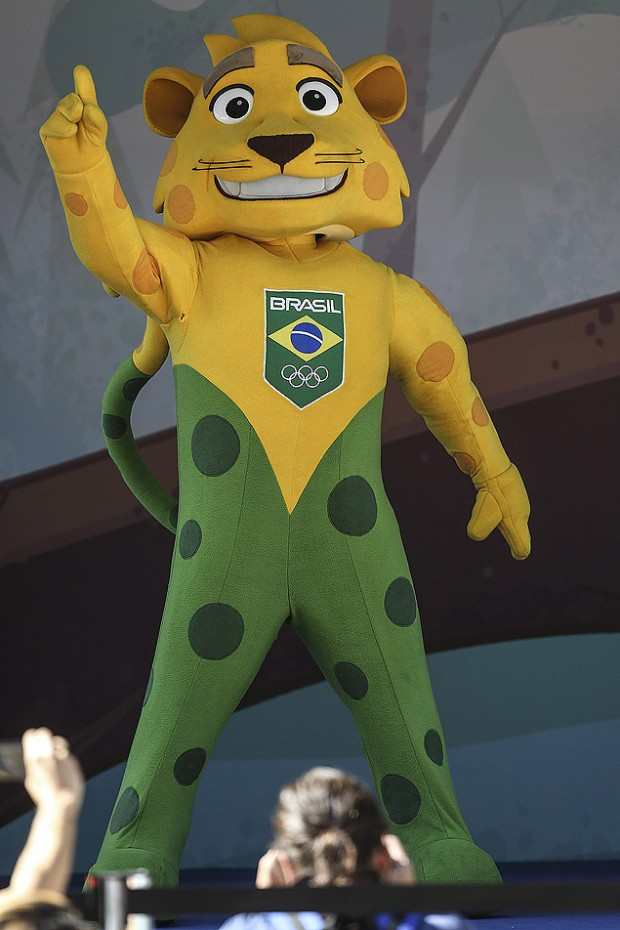 O mascote do Time Brasil, a onça Ginga
