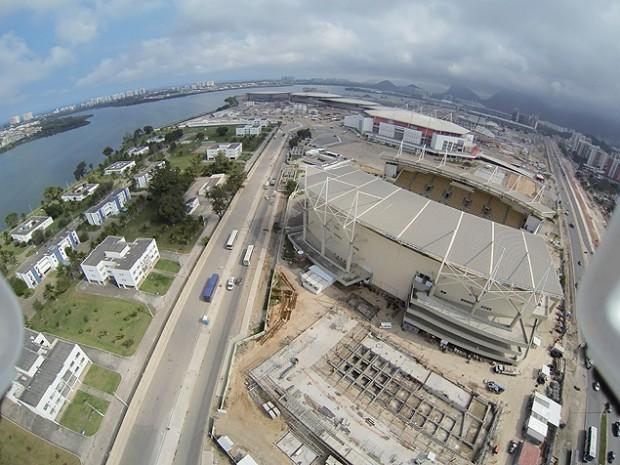 O Parque Aquático Maria Lenk, que integra o Parque Olímpico da Barra da Tijuca, no Rio