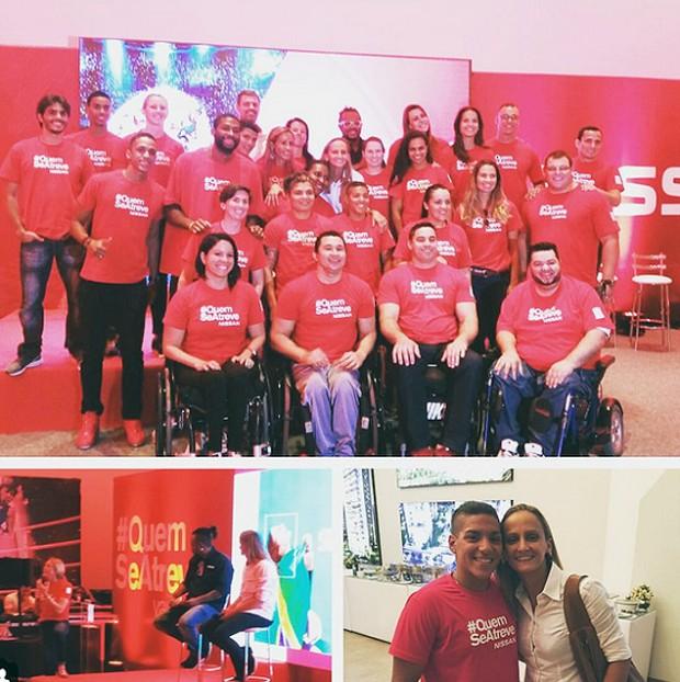 Fotos da líbero Fabi, convidada para dar palestra aos atletas em evento no Rio (reprodução/Instagram)