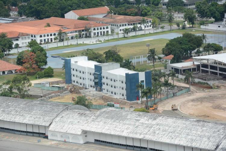 Imagem aérea da Universidade de Força Aérea, em Deodoro (Divulgação)