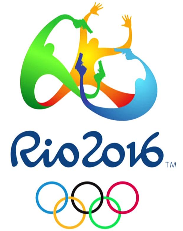 """Logo da Olimpíada do Rio alterado e exibido no programa """"Late Show with Stephen Colbert"""" (Reprodução)"""