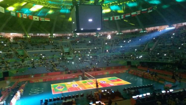 Ginásio do Maracanãzinho, onde as seleções de vôlei buscam medalhas (Marcel Merguizo/Folhapress)